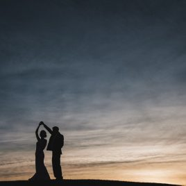 Intrepid Visuals Wedding Photography Lincoln Nebraska Wedding Photographer Sunset Silhouette Wilderness Ridge