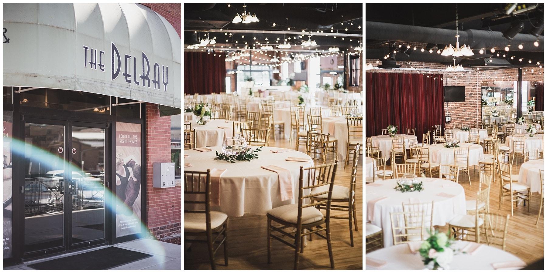 The DelRay Ballroom Lincoln Nebraska Wedding Venues Intrepid Visuals Wedding Photography